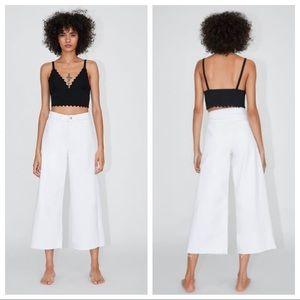 NWT. Zara Culotte Hi-Rise Jeans. Size 2, 4, 12.